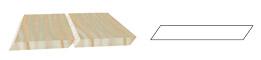 CLAIRE-VOIE parallélogramme - pente 35°