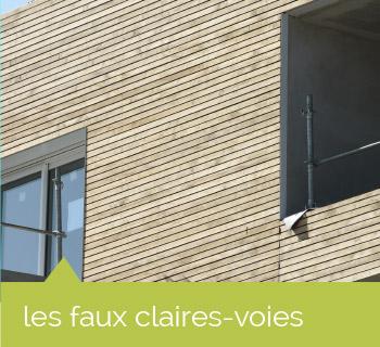 façade : les faux claires voies