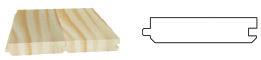 PLANCHER jointif 1 face grain d'orge en sous face