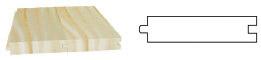 PLANCHER jointif 2 faces (languette centrée)